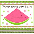 "Edible WATERMELON image cake topper 1/4 sheet (10.5"" x 8"")"
