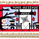 "Edible CUTE NINJAS image cake Topper 1/4 sheet (10.5"" x 8"")"