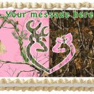 "Edible BUCK OR DOE image cake Topper 1/4 sheet (10.5"" x 8"")"