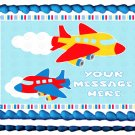 "Edible BOY AIRPLANES image cake Topper 1/4 sheet (10.5"" x 8"")"