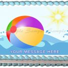 "Edible SUMMER BEACH BALL image cake Topper 1/4 sheet (10.5"" x 8"")"