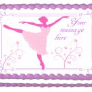 "BALLERINA DANCER Edible image cake Topper 1/4 sheet (10.5"" x 8"")"