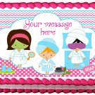 "Edible SPA GIRLS image cake topper 1/4 sheet (10.5"" x 8"")"