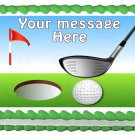 "Edible GOLF Course image cake Topper 1/4 sheet (10.5"" x 8"")"