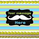 "Edible MUSTACHE Little man image cake topper 1/4 sheet (10.5"" x 8"")"