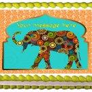 "Edible INDIAN ELEPHANT image cake topper 1/4 sheet (10.5"" x 8"")"