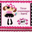"Edible PIRATE GIRL image cake Topper 1/4 sheet (10.5"" x 8"")"