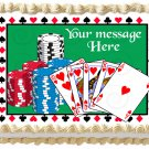 "Edible POKER CASINO image cake Topper 1/4 sheet (10.5"" x 8"")"