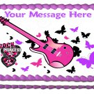 "Edible ROCKSTAR PRINCESS image cake Topper 1/4 sheet (10.5"" x 8"")"