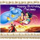 "Edible ALADDIN Jasmine image cake Topper 1/4 sheet (10.5"" x 8"")"