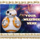 "Edible BB8 STAR WARS image cake Topper 1/4 sheet (10.5"" x 8"")"