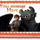 "Edible HOW TO TRAIN YOUR DRAGON image cake Topper 1/4 sheet (10.5"" x 8"")"