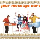 "Edible FRESH BEAT BAND image cake Topper 1/4 sheet (10.5"" x 8"")"