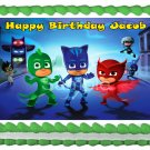 "Edible PJ MASK image cake Topper 1/4 sheet (10.5"" x 8"")"