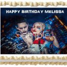 "Edible SUICIDE SQUAD image cake Topper 1/4 sheet (10.5"" x 8"")"