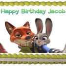 "Edible ZOOTOPIA image cake Topper 1/4 sheet (10.5"" x 8"")"