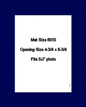 8X10 PHOTO MAT -  Military Blue