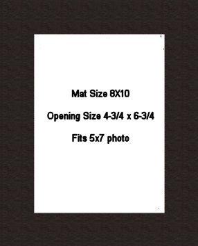 8X10 PHOTO MAT -  SMOOTH BLACK