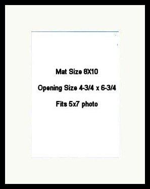 8X10 PHOTO MAT -  White Linen