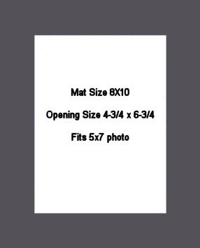 8X10 PHOTO MAT -  Granite