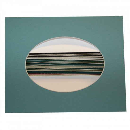 11 x 14 Oval Photo Mat - Pkg of 50 -  (7.5 x 9.5 opening)