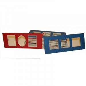 4 x 10 Assorted Panoramic Photo Mat - Pkg of 50s -  Muliple Openings