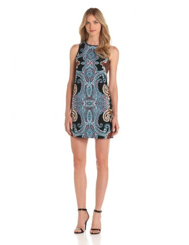 NWT $118 12 L Maggy London Gorgeous Mirror Print Sheath Dress work or datenight