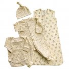 NEW HALO 4-Piece Organic Layette Set - Cowboy  Small