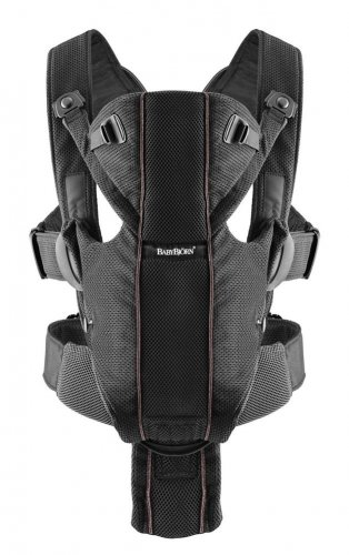 BABYBJORN Baby Bjorn Infant Child Carrier Miracle Airy Mesh Black NEW