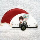 Fan Shaped Stainless Steel Unbreakable Cosmetic Mirror,Pocket Mirror, Purse Mirror, Handbag Mirror