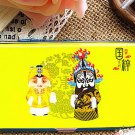 Peking Opera Stainless Steel Business Card Case Debit Credit ID Card Holder Slash Mirror