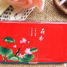Chinoiserie Stainless Steel Business Card Case Debit Credit ID Card Holder Slash Mirror