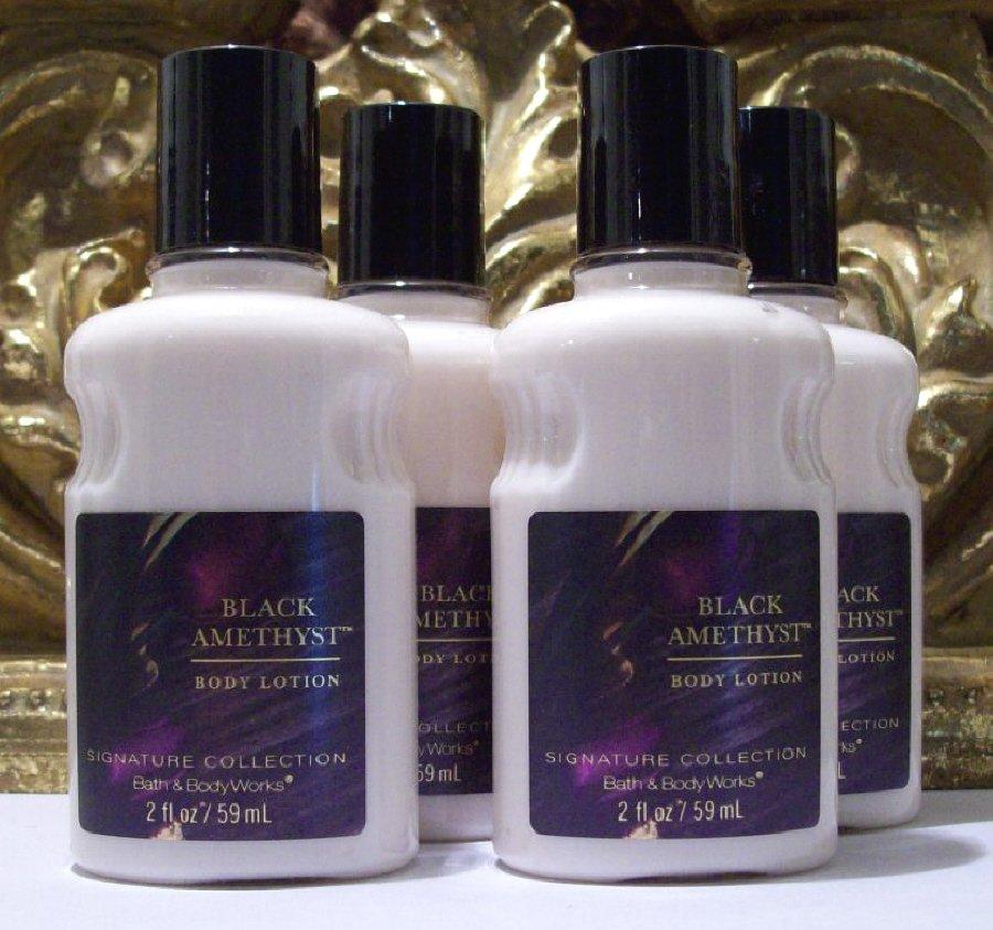 Bath & Body Works Black Amethyst Body Lotion Travel Size 2 Oz X 4