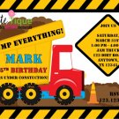 Construction Zone Birthday invitations