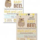 Honey bee and honey bear baby shower invite coed gender neutral printable