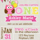 Owl Invitation - birthday invitation any age birthday invite in owl theme-