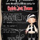 Pirate Party Invitation | Pirate Birthday Invitation | Pirate Invitation | Boy Birthday