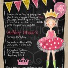 Pink Princess Party Invitation | Pink Princess Birthday Invitation |