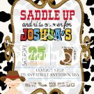 cowboy invitation - Western party   First birthday   Boy Birthday party   Baby shower