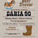 Western Cowboy Baby Shower | Western Baby Shower| Birthday | Cowboy Invitations
