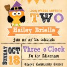 WITCH OWL BIRTHDAY INVITES |Halloween Invitations