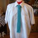 Crochet Teal Men's Fashion Tie