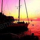 *Ships at Rovjni. Croatia* CANVAS very colorful fine artwork mixed media