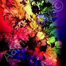 *Rainbow Bunch of Flowers* fine very colorful NATURAL LINEN CANVAS artwork