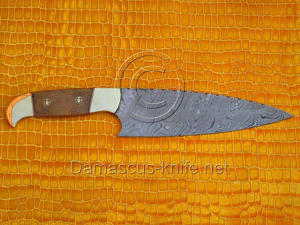 Chef's Fine Handmade Damascus Steel Kitchen Knife DCK677