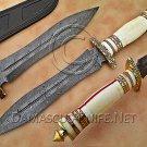 Handmade Damascus Steel Collectible Hunting Knife Bone Handle DHK890