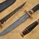 Handmade Damascus Steel Collectible Hunting Knife Horn Handle DHK888