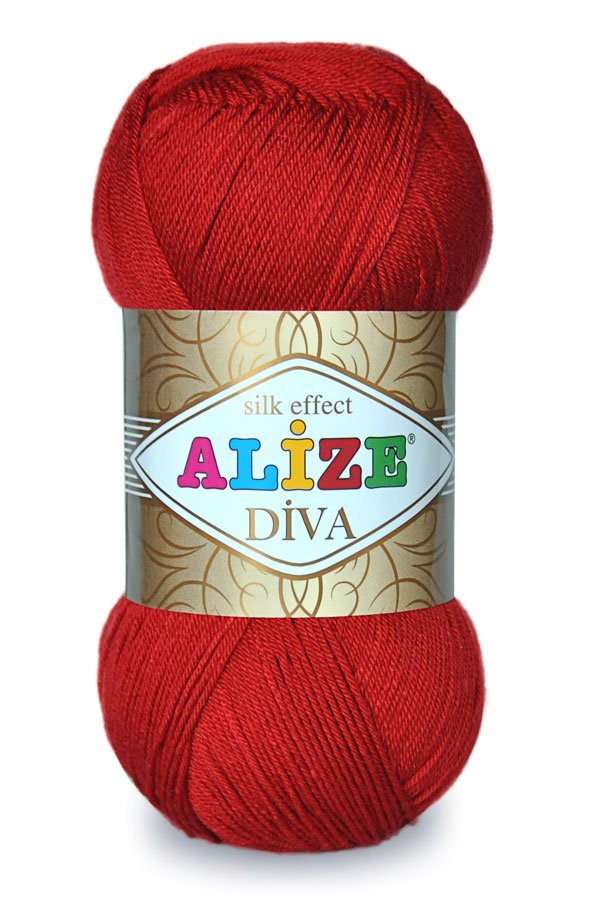 Alize Diva Yarn with Silk effect - pack of 5 skeins