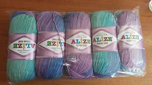 High Quality Turkish Cotton Yarn for Handknitting and Crochet. Pack of 5 skeins