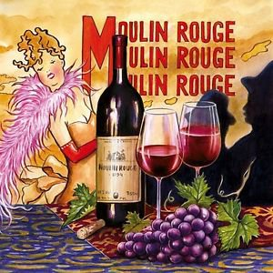 20 pcs Paper Napkins for Decoupage, Collage, Scrapbooking - Moulin Rouge Theme